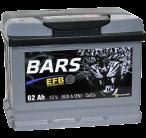 """АКБ 6СТ- 62 """"BARS"""" EFB п/п"""